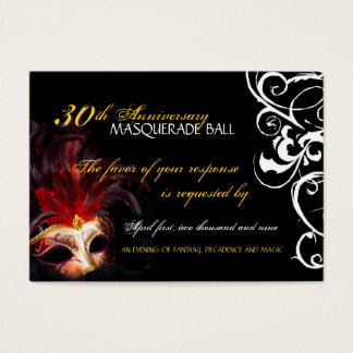 Masquerade Ball - Mini Reply Cards