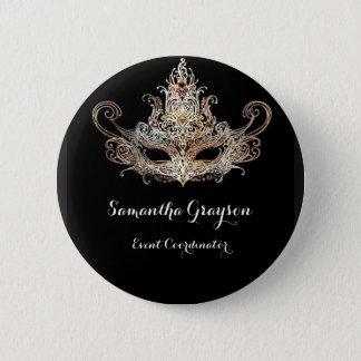 Masquerade Ball Name Badge 2 Inch Round Button