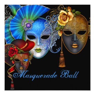 Masquerade Ball Sweet Sixteen Birthday Invitation