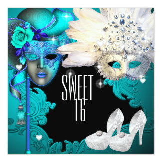 Masquerade Ball, Sweet Sixteen Birthday Invitation