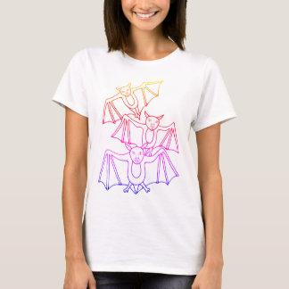 Masquerade Bats Line Art Design T-Shirt