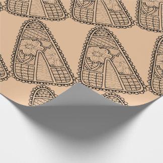 Masquerade Candy Corn Line Art Design