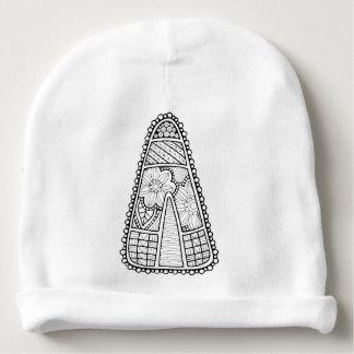 Masquerade Candy Corn Line Art Design Baby Beanie