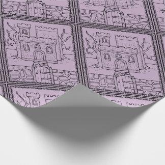 Masquerade Castle Line Art Design Wrapping Paper