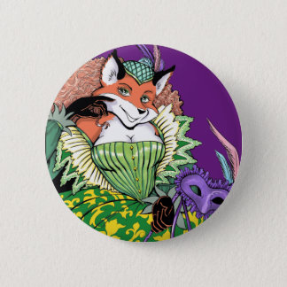 Masquerade Fox Button