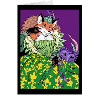 Masquerade Fox Card