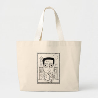 Masquerade Frank Line Art Design Large Tote Bag