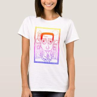Masquerade Frank Line Art Design T-Shirt