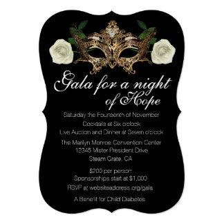 "Masquerade Fundraising Gala 5"" X 7"" Invitation Card"