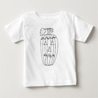 Masquerade Jack O Lantern Two Line Art Design Baby T-Shirt