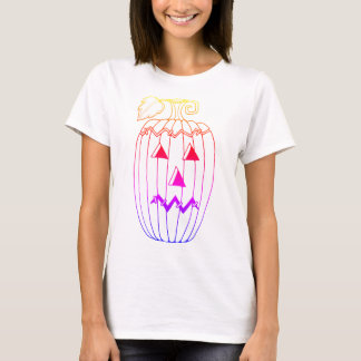 Masquerade Jack O Lantern Two Line Art Design T-Shirt