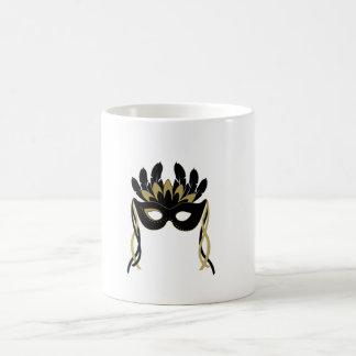 Masquerade Mask in Black and Gold Mug
