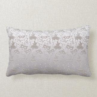 Masquerade Mask Pattern Lumbar Pillow
