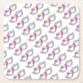 Masquerade masks-Cool Purple Square Paper Coaster