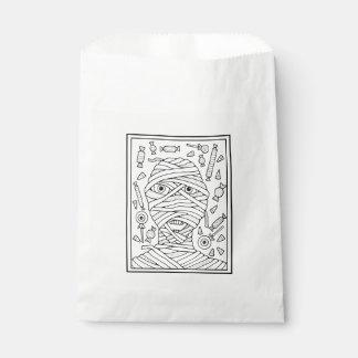 Masquerade Mummy Line Art Design Favour Bag