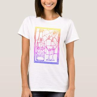 Masquerade Newt Martini Line Art Design T-Shirt