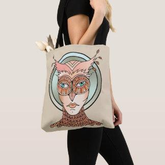 Masquerade Owl Tote Bag