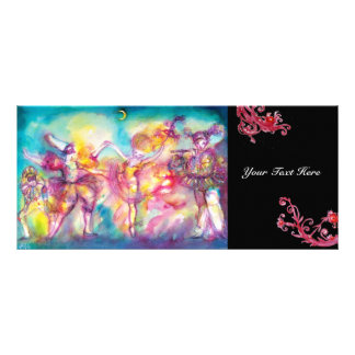MASQUERADE PARTY,Mardi Gras Masks,Dance,Music Rack Card