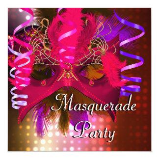 Masquerade Party Mask Mardi Gras Carnival Card