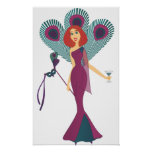 Masquerade Peacock Poster