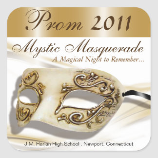 Masquerade Prom 2011 Party Sticker