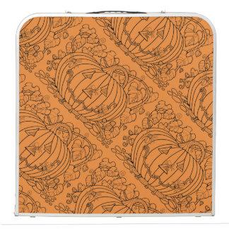 Masquerade Pumpkin Spiders Line Art Design Pong Table
