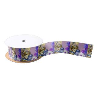 Masquerade quinceanera venetian mask satin ribbon