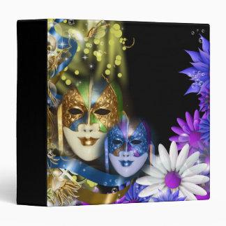 """Masquerade quinceanera Venetian masks 1.5"""" Vinyl Binders"""