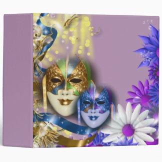 """Masquerade quinceanera Venetian masks 2"""" Binders"""