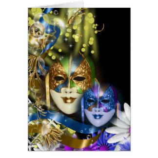 Masquerade quinceanera Venetian masks Card