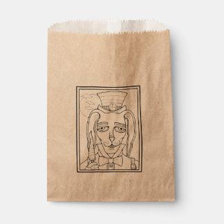 Masquerade Rabbit Carrot Lollipop Line Art Design Favour Bag