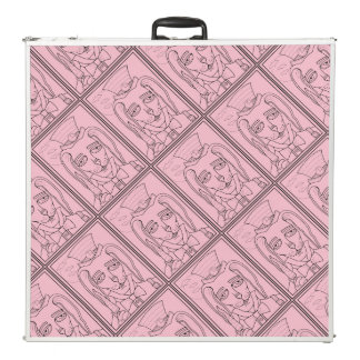 Masquerade Rabbit Carrot Lollipop Line Art Design Pong Table