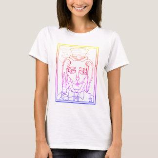 Masquerade Rabbit Carrot Lollipop Line Art Design T-Shirt