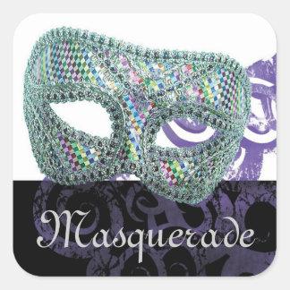Masquerade Square Sticker