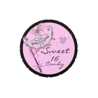 Masquerade Sweet Sixteen Sweet 16 Pink Party Favor Candy Tin