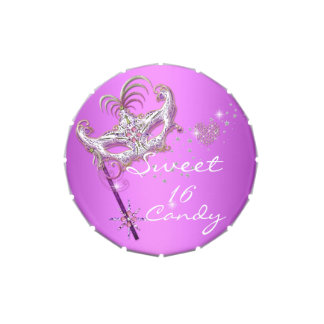 Masquerade Sweet Sixteen Sweet 16 Pink Party Favor Jelly Belly Tins