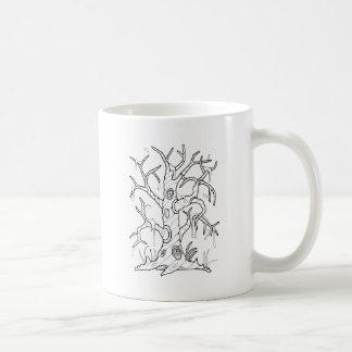 Masquerade Tree Line Art Design Coffee Mug