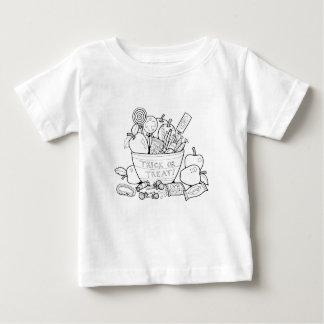 Masquerade Trick Or Treat Bowl Line Art Design Baby T-Shirt