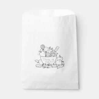 Masquerade Trick Or Treat Bowl Line Art Design Favour Bag