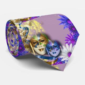 Masquerade Venetian masks mens mardi gras Tie