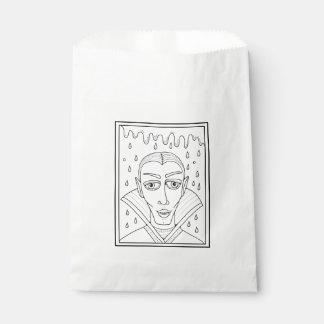 Masquerade Vlad Dracula Line Art Design Favour Bag