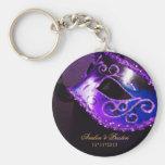 Masquerade Wedding Favour Purple Keychain