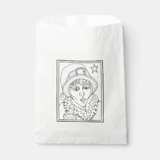 Masquerade Witch Frog Line Art Design Favour Bag