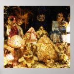 Masques vénitiens de carnaval - AFFICHE de Venise,