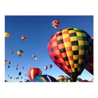 Mass Ascension Balloons Postcard