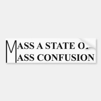 Mass Confusion Bumper Sticker