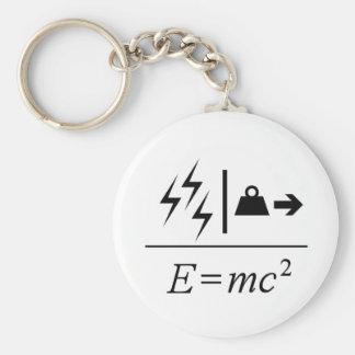 Mass–Energy Equivalence Basic Round Button Keychain