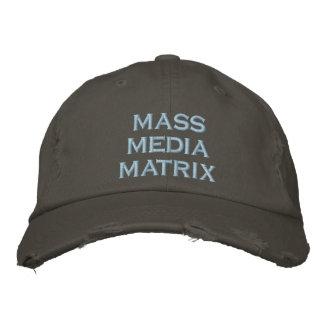 mass media matrix embroidered hat