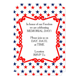 Mass Of Stars Memorial Day Party Invitations