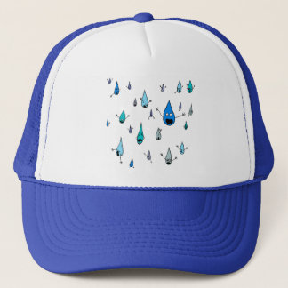 Mass Raindrop Death Trucker Hat